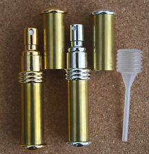 BEADABLE PERFUME ATOMISER GOLD OR CHROME PLATED