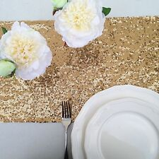 Antique Gold Sequin Table Runner
