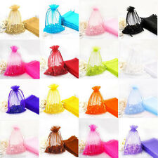 100Pcs Sheer Organza Packing Pouches Wedding Party Favor Candy Gift Bags DIY