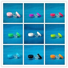 3g 3ml 0.1oz Small Plastic Cosmetic Sample Jar Makeup Container 11Colors Round