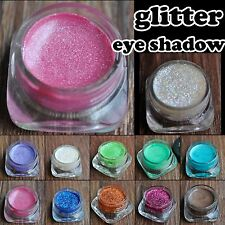 Fine Glitter Eye Shadow Cream Eyeliner Gel Pink Purple Gold White 12 Color