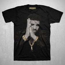 "COACHELLA ARTIST Drake GOLD POP HIP HOP T-Shirt Men's Black NEW ""BACK TO BACK"""