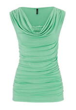 Maurices Women's Drape Neck Top With Built-In Lace Bodice