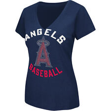 G-III Women's Anaheim Angels Strike Zone V-Neck Short-Sleeve T-Shirt