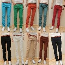 New Mens Slim Fit Casual Pants Skinny Stretch Pencil Jeans Trousers K1010