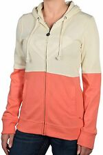 Roxy Juniors Four Square Heart Zip Up Hoodie-Pink/Cream