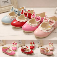 Simple Style Kids Princess Flowers Bowknot Pearl Dress Shoes Moccasins Slip-on