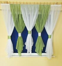 READY MADE LARGE VOILE NET CURTAIN - DIFFERENT COLOURS