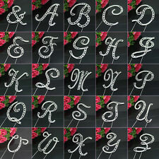 Large Rhinestone Crystal MONOGRAM LETTER ALPHABET Cake Toppers For Wedding Party