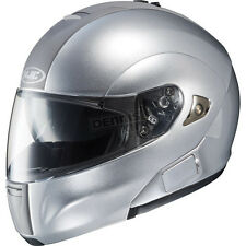 HJC HELMETS IS-MAX BT MOTORCYCLE SILVER  MODULAR STREET SUNSHIELD!! RIDING NEW