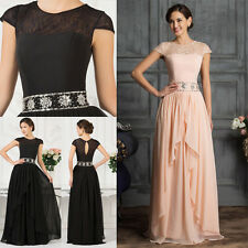 Long Chiffon Prom Dresses Evening Party Bridesmaid Wedding Formal Gowns Wedding