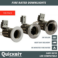 100 X FIRE RATED DOWNLIGHTS GU10 MAINS 240V LED RECESSED SPOTLIGHT CEILING LIGHT