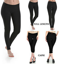 Thick Heavy Cotton Spandex Leggings Fitness Quality Stretch No See Through