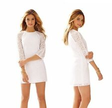 2015 Lilly Pulitzer Rylee Lace Shift Dress Resort White Circle Lace 02468 $248
