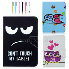 """Universal Lovely Owls PU Leather Stand Case Cover For 7"""" 10"""" 10.1"""" Tablet PC MID"""