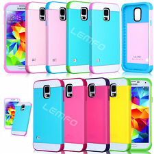 For Samsung Galaxy SV S5 i9600 Hybrid Impact Plastic Silicone Case Cover MN