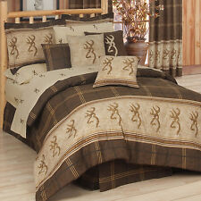 NEW Browning Buckmark Bedding  Comforter Set With Sheets
