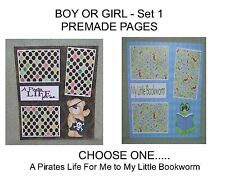 """""""BOY OR GIRL"""" -SET 1 - Premade Page 12x12-Choose One-Just Add Pics!"""