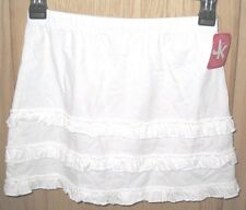 J Khaki White Ruffled Tiered Skirt - Girls 7-16 -  MSRP $22