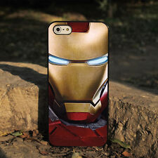 Iron Man Black Back Skin Case Cover Hard Phone Case For Apple iPhone 4 4s 5 5s