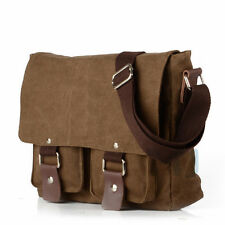 Men's Vintage Canvas School Cross Body Satchel Laptop Shoulder Messenger Bag New