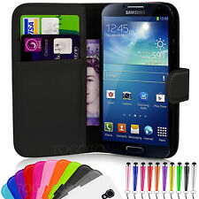 Flip Wallet Leather Case Cover For Samsung Galaxy S4 Mini I9190 Screen Protector