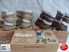 Snugz-Small-Dog-Booties-shoes-ugg-boots-pug-french-bull faux suede wool lining