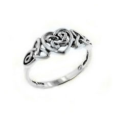 Sterling Silver Celtic Trinity Knot Heart Ring