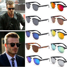2015 New Half Gold Frame Wayfarer Clubmaster Style Sunglasses Retro Sunglasses