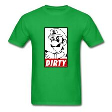 Luigi Ridin' Dirty Supreme Men's T-Shirt Mario Kart 8 Death Stare Nintendo DOPE