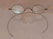 Antique Eyeglasses Oval Riding Temple Glasses Frames Cable Temples Vintage