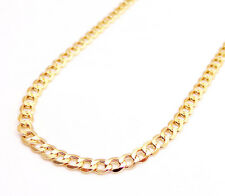 """18-24"""" 3.6mm 10k Yellow REAL Gold Miami Cuban Curb Lite Chain Necklace Mens"""