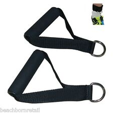 Resistance Band Handles Workout Handle 2 Pack - FREE Ankle Strap Included