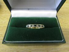 9ct White Gold Filled Eternity Ring With Clear/Green Round Cut Gemstone R172