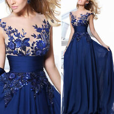Long Chiffon Wedding Evening Dress Cocktail Party Prom Gown Bridesmaid Dress