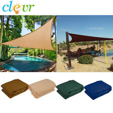 New Premium Clevr Sun Shade Canopy Sail 12'/16.5'/18' Triangle UV Outdoor Patio