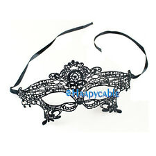 New Black Sexy Lace Venetian Half Flower Eye Mask Masquerade Costume Party Mask