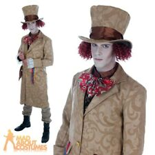 Dickensian Toff Costume Adult Mad Hatter Fancy Dress Alice Fairytale Outfit New
