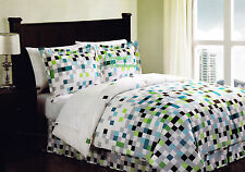 "STYLE 1212 GREEN PIXEL "" MINECRAFT "" COMFORTER BED IN A BAG SET NWT"