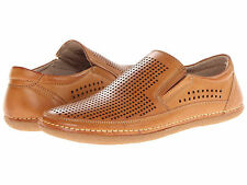 Stacy Adams NORTHSHORE Mens Natural Brown Faux Leather Casual Slip On Shoes