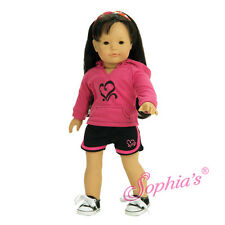 """Doll Clothes AG 18"""" Sport Shorts Sweatshirt Made To Fit American Girl Dolls"""
