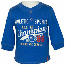 "BNWT Baby Toddler Boys ""Champion"" Long Sleeve Grandpa Tee Top - Sizes 0 1 2"