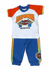 Harley Davidson Newborn Infant Baby Boys Apparel Pant & Top, 0-3 thru 24 Mos.