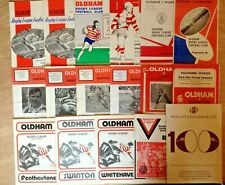 Oldham Rugby League Programmes 1966 - 1997
