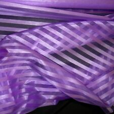 """STRIPE ORGANZA FABRIC 58"""" WIDE BY THE YARD HOME DECOR & SPECIAL OCCASION"""