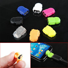 Colorful Robot Micro USB Host OTG Adapter Cable for Samsung Galaxy S3/4 Note2