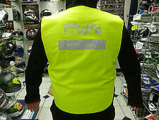MOTORCYCLE MOTORBIKE SCOOTER HI-VIZ ZIP UP YELLOW WAISTCOAT REFLECTIVE NEW