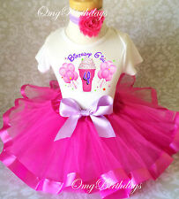 Pink purple Ice Cream Cone 4th Fourth Birthday Tutu Outfit Shirt Set Party Dress