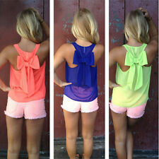 Fashion Womens Summer Chiffon Vest Top Sleeveless Blouse Casual Tank Tops Shirt