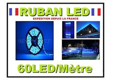 Ruban led bleu 60LEDs/m de 1 à 5 m, 12v ou 220 volts( + alimentation )